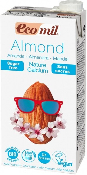 Ecomil Organic Almond Sugar Free + Calcium Drink 1L