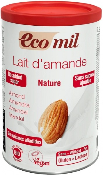 Ecomil Organic Instant Nature Almond Drink Powder Unsweetened  400g