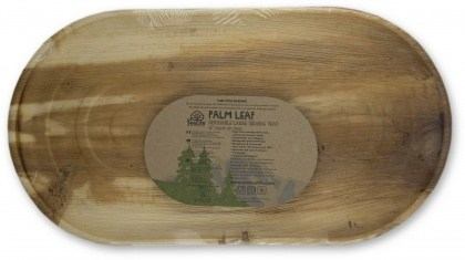 EcoSouLife Areca Leaf Large Serving Tray (56cm X 30cm) 3Pc Pack