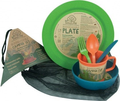 EcoSouLife Bamboo Camper Set Main Plate Aussie Outback