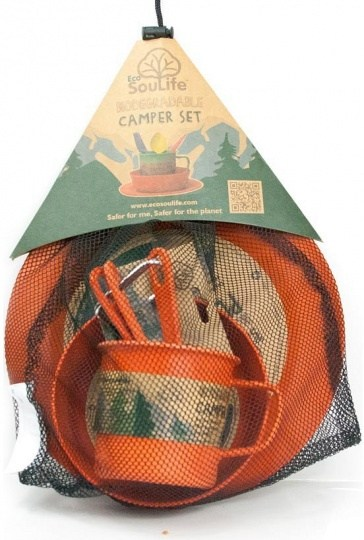 EcoSouLife Bamboo Camper Set Side Plate Orange