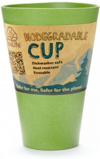 EcoSouLife Bamboo Cup Green 443ml