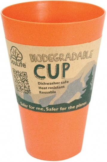 EcoSouLife Bamboo Cup Orange 443ml