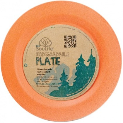EcoSouLife Bamboo (D19.5 x H1.4cm) Side Plate Orange