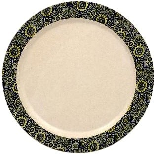 EcoSouLife Bamboo (D19.5 x H1.6cm) Print Paisley Side Plate