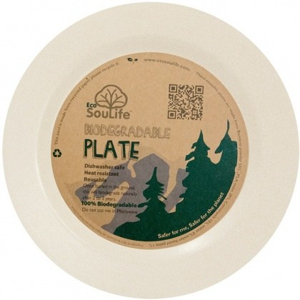 EcoSouLife Bamboo (D25 x H1.8cm) Main Plate Sand