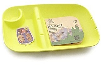 EcoSouLife Bamboo (L28 x W18 x H4cm) BBQ Plate Lime