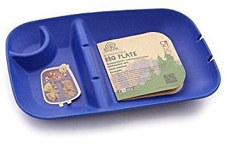 EcoSouLife Bamboo (L28 x W18 x H4cm) BBQ Plate Sky Blue