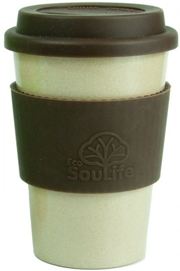 EcoSouLife Rice Husk Cafe Traveler Cup Brown Natural 443ml