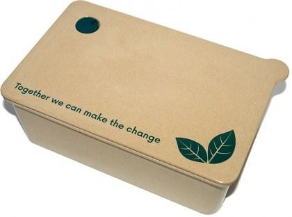 EcoSouLife Rice Husk Large Takeaway Box (W15 x L24 x H8cm)