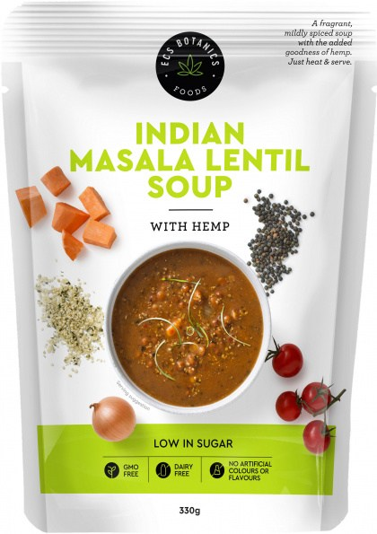 ECS Botanics Indian Masala Lentil Soup with Hemp 330g