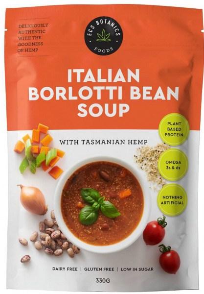 ECS Botanics Italian Borlotti Bean Soup with Hemp 330g FEB23