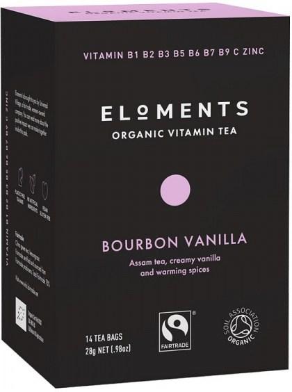 Eloments Organic Vitamin Tea Bourbon Vanilla 14Teabags
