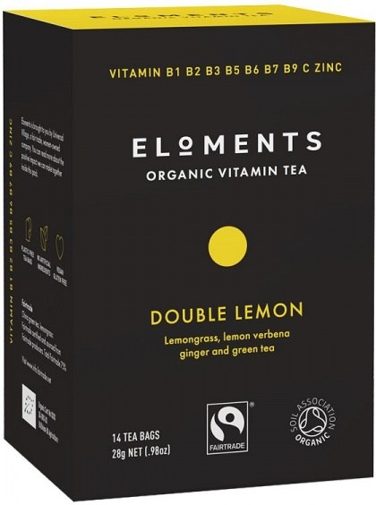 Eloments Organic Vitamin Tea Double Lemon 14Teabags