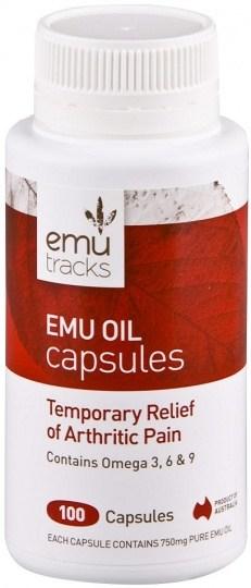 Emu Tracks Emu Oil 750mg 100caps