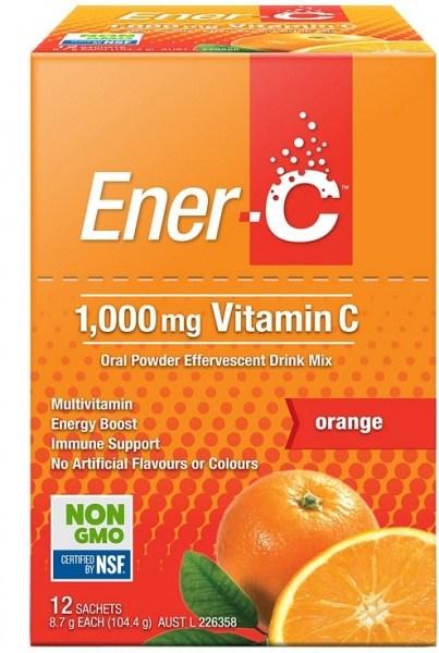 Ener-C 1000mg Vitamin C Orange Effervescent Drink Mix  12Sachets
