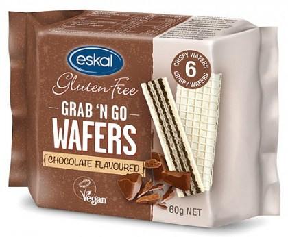 Eskal Grab 'n Go Wafers Chocolate  60g