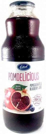 Eskal Pomdelicious 100% Natural Pomegranate & Blueberry Juice 1L
