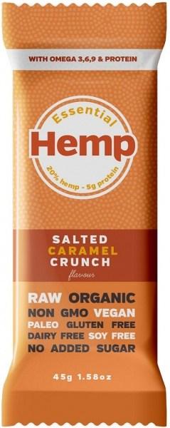 Essential Hemp Salted Caramel Crunch Bars 12x45g