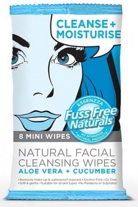 Essenzza Fuss Free Facial Cleanse Mini Wipes Moisturise 8Pk x 12