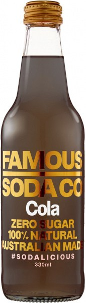 Famous Soda Co Sugar Free All Natural Cola 12x330ml