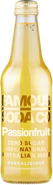 Famous Soda Co Sugar Free All Natural Passionfruit Soda 12x330ml