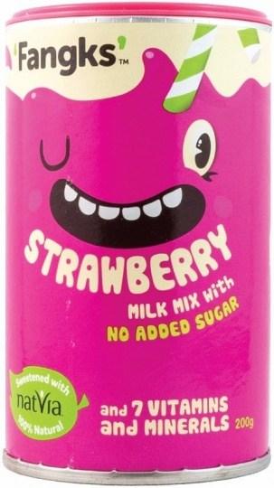 Fangks Strawberry Milk Mix No Added Sugar 200g