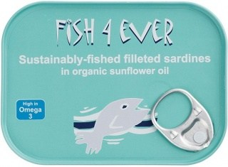 Fish 4 Ever Sardine Fillets in Sunflower Oil 100g
