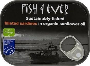 Fish 4 Ever Sardine Fillets in Sunflower Oil 90g