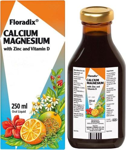 Floradix Calcium Magnesium with Zinc & Vitamin D 250ml
