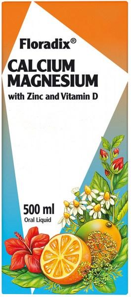 Floradix Calcium Magnesium with Zinc & Vitamin D 500ml