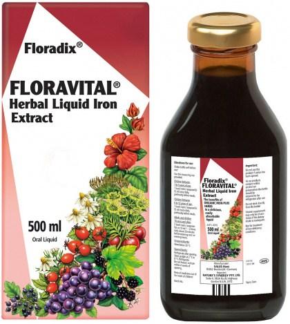 Floradix Floravital Herbal Liquid Iron Extract 500ml