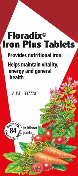 Floradix Iron Plus 84 Tablets