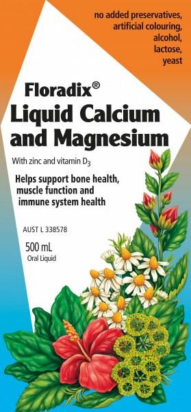 Floradix Liquid Calcium & Magnesium 500ml