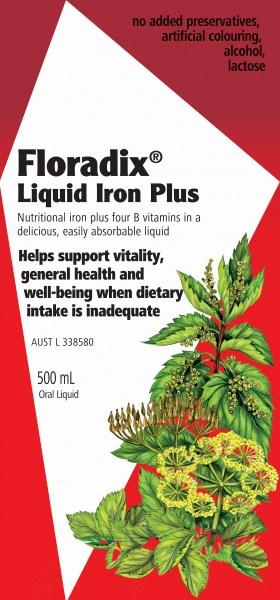 Floradix Liquid Iron Plus 500ml