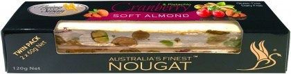 Flying Swan Soft Almond Cranberry & Pistachio Nougat Bar 120g