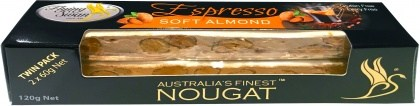 Flying Swan Soft Almond Espresso Nougat Bar 120g