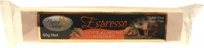 Flying Swan Soft Almond Espresso Nougat Bar 60g