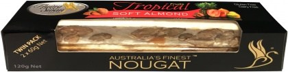 Flying Swan Soft Almond Tropical Nougat Bar 120g