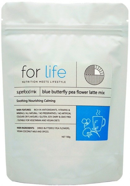 For Life Blue Butterfly Pea Flower Latte Mix Powder 130g