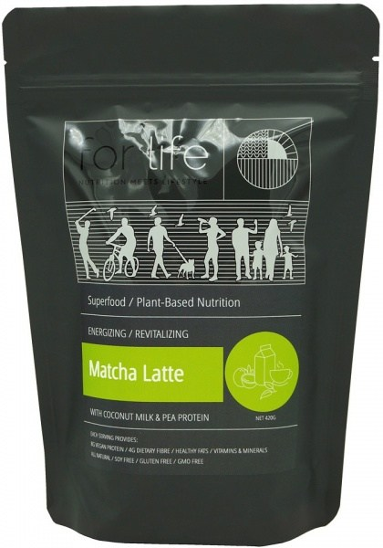 For Life Matcha Latte with Coconut Milk and Pea Protein Powder 420g