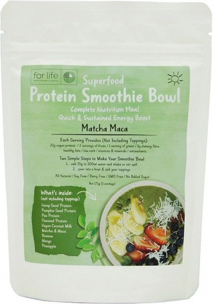 For Life Matcha Maca Protein Smoothie Bowl Mix 175g