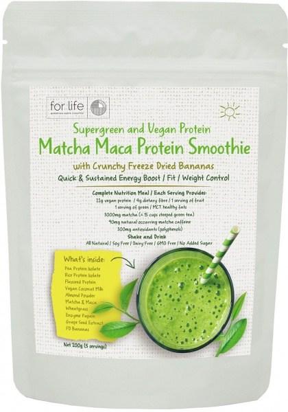 For Life Matcha Protein Smoothie Powder Banana 200g AUG20