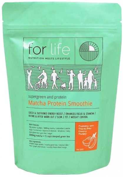 For Life Matcha Protein Smoothie Powder Mango 500g