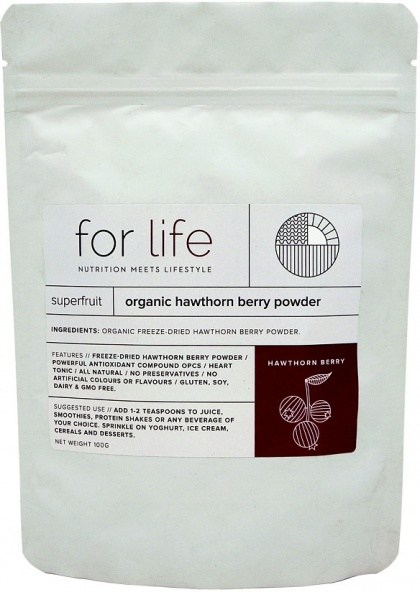 For Life Organic Hawthorn Berry Powder 100g