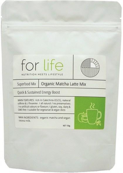 For Life Organic Matcha Latte Mix Powder 150g