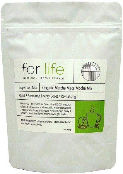 For Life Organic Matcha Maca Mocha Mix Powder 150g