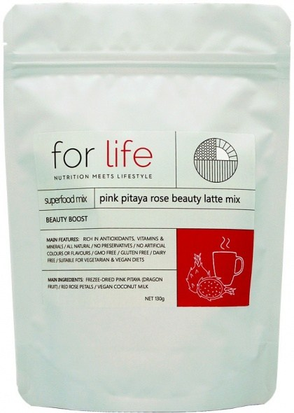 For Life Pink Pitaya Rose Beauty Latte Mix Powder 130g