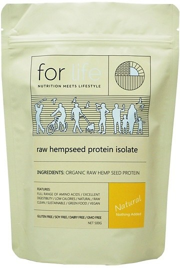For Life Raw Hempseed Protein Isolate Powder 500g