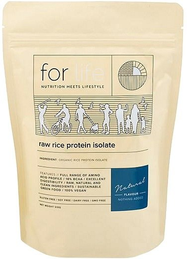 For Life Raw Rice Protein Isolate Powder Natural 510g